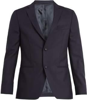 Officine Generale Single-breasted notch-lapel wool blazer