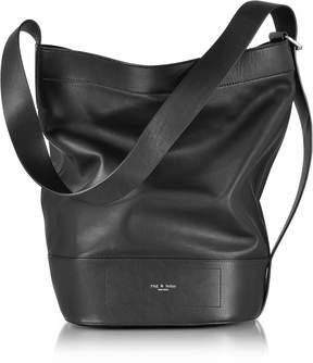 Rag & Bone Black Leather Walker Sling Bucket Bag