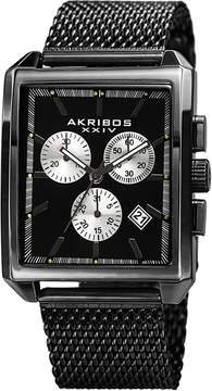 Akribos XXIV Men's Quartz Chronograph Date Stainless Steel Watch, 34mm