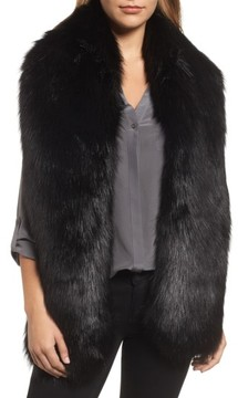 Halogen Women's Faux Fox Fur Stole