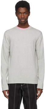 Comme des Garcons Grey Cotton Crewneck Sweater
