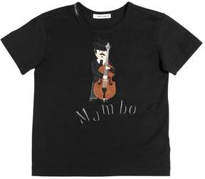 Dolce & Gabbana Bass Player Patch Cotton Jersey T-Shirt