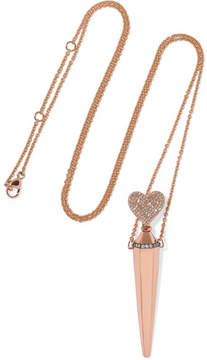 Diane Kordas Amulette 18-karat Rose Gold Diamond Necklace