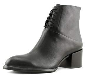 Calvin Klein Jeans Nickia Women Round Toe Leather Black Ankle Boot.