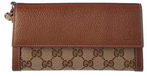 Gucci Bree Original Gg Supreme Canvas & Leather Continental Wallet. - BROWN - STYLE