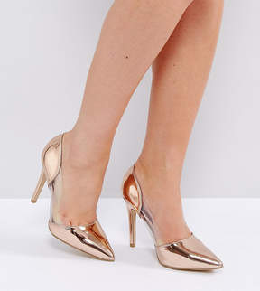 New Look Wide Fit Clear Pointed Heeled Shoes