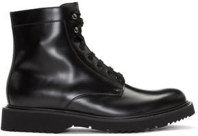 Prada Black Lace-Up Boots