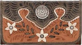 American West Desert Wildflower Tri-Fold Wallet (Women's)