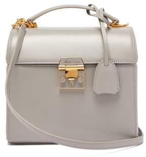 Mark Cross Sara Saffiano Leather Bag - Womens - Light Grey