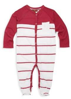 7 For All Mankind Baby's Striped Footie
