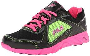 Fila Ultraloop 2 Running Shoe (Little Kid/Big Kid),Black/Knockout Pink/Neon Green,12.5 M US Little Kid
