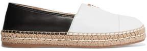 Prada Two-tone Leather Espadrilles - White