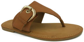Bamboo Tan Buckle-Accent Coastline Sandal - Women