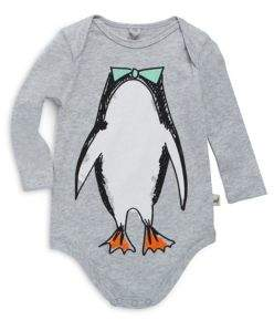 Stella McCartney Baby's Penguin Print Cotton Bodysuit