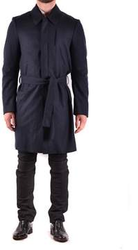 CNC Costume National Men's Blue Wool Trench Coat.
