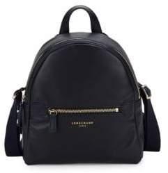 Longchamp Logo Leather Backpack