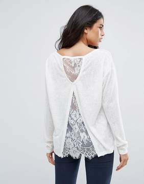 Blend She Calla Lace Long Sleeved Top
