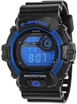 Casio G Shock Blue Dial Black Resin Strap Men's Watch