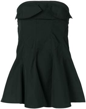 Y's strapless flared top