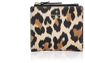 Kate Spade Hyde Lane Adalyn Leopard Print Leather Wallet - CLASSIC CAMEL MULTI/GOLD - STYLE