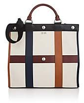 Sonia Rykiel Women's Cindy Leather-Trimmed Canvas Tote Bag - Navy