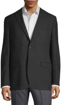 DKNY Tonal Mini Check Wool Blazer