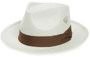 Brixton Men's Havasu Straw Fedora - White
