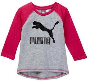 Puma 3/4 Length Sleeve Raglan Tee (Little Girls)