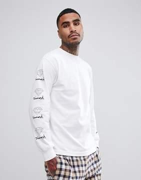 Diamond Supply Co. Long Sleeve T-Shirt With Sleeve Prints