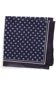 BOSS Men's Medallion Silk Pocket Square