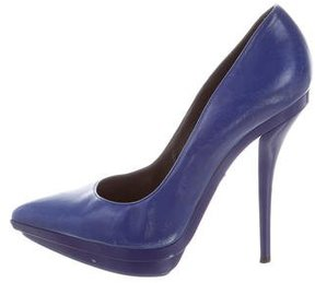 Versace Pointed-Toe Platform Pumps