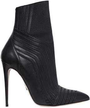 Paul Andrew 115mm Sovata Leather & Knit Ankle Boots