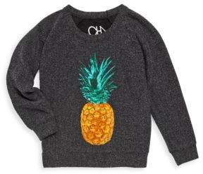 Chaser Toddler's & Little Girl's Painted Pineapple Knit Pullover