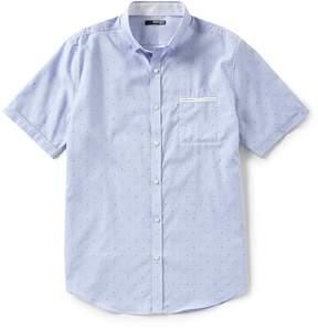 Murano Slim-Fit Diamond Dobby Short-Sleeve Woven Shirt