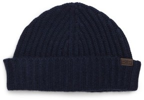 Hickey Freeman Cuffed Cashmere Beanie - Blue