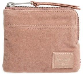 Herschel Women's 'Johnny' Half Zip Wallet - Pink