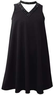 Bonnie Jean Girls 7-16 & Plus Size Mockneck Swing Dress