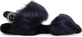 Carvela Kuddley faux-fur flat sandals