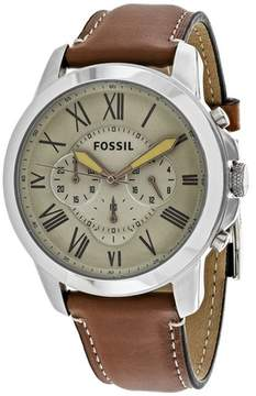 Fossil Grant Chronograph FS5118 Men's Brown Leather and Stainless Steel Chronograph Watch