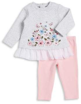 Little Me Baby Girls Two-Piece Floral Top & Bottom Set