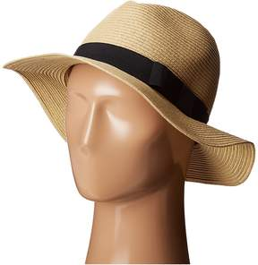 San Diego Hat Company UBF1016 Paper Braid Fedora Hat with Bow Brim Fedora Hats