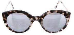 Illesteva Mirrored Tortoiseshell Sunglasses
