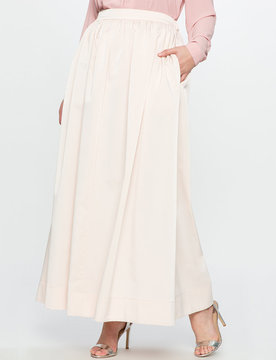 ELOQUII Satin Ball Gown Maxi Skirt