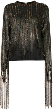 Aviu sequined fringe blouse
