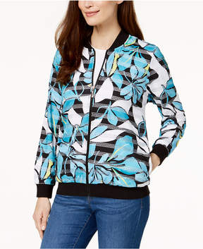 Alfred Dunner Play Date Printed Bomber Jacket