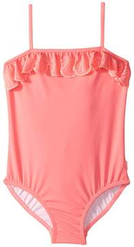 Seafolly Sweet Summer Frill Tube Tank One-Piece Girl's Swimsuits One Piece
