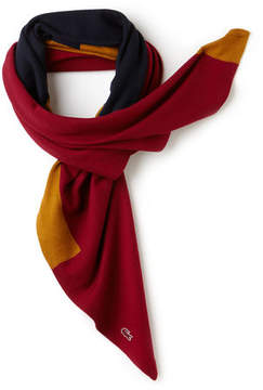 Lacoste Women's Made In France Square Colorblock Wool And Cotton Scarf