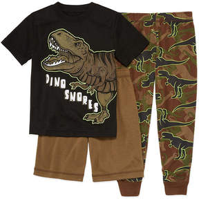 Arizona 3-pc. Dino Pajama Set Boys-Husky