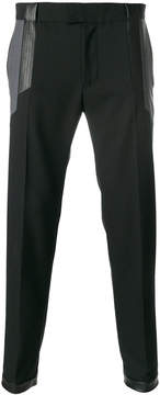 Les Hommes contrast cuts casual trousers