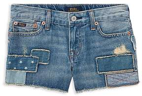 Polo Ralph Lauren Girls' Patchwork Denim Shorts - Big Kid